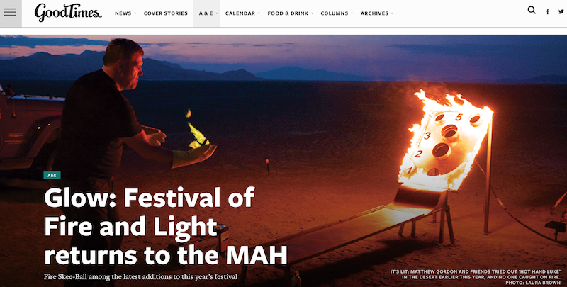 Good Times Santa Cruz: Glow: Festival of Fire and Light returns to the MAH
